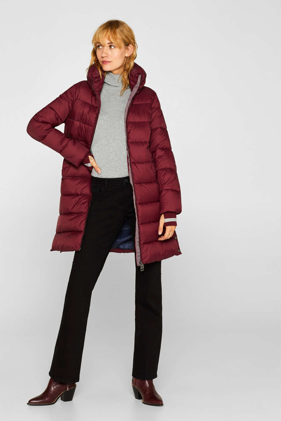 Quilted coat with 3M™ Thinsulate™ padding, BORDEAUX RED, detail image number 1