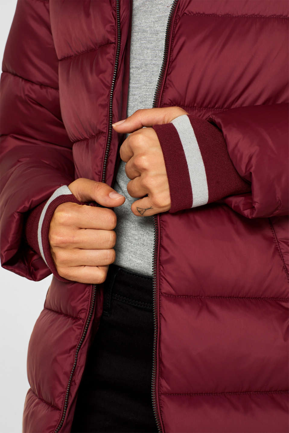 Quilted coat with 3M™ Thinsulate™ padding, BORDEAUX RED, detail image number 2
