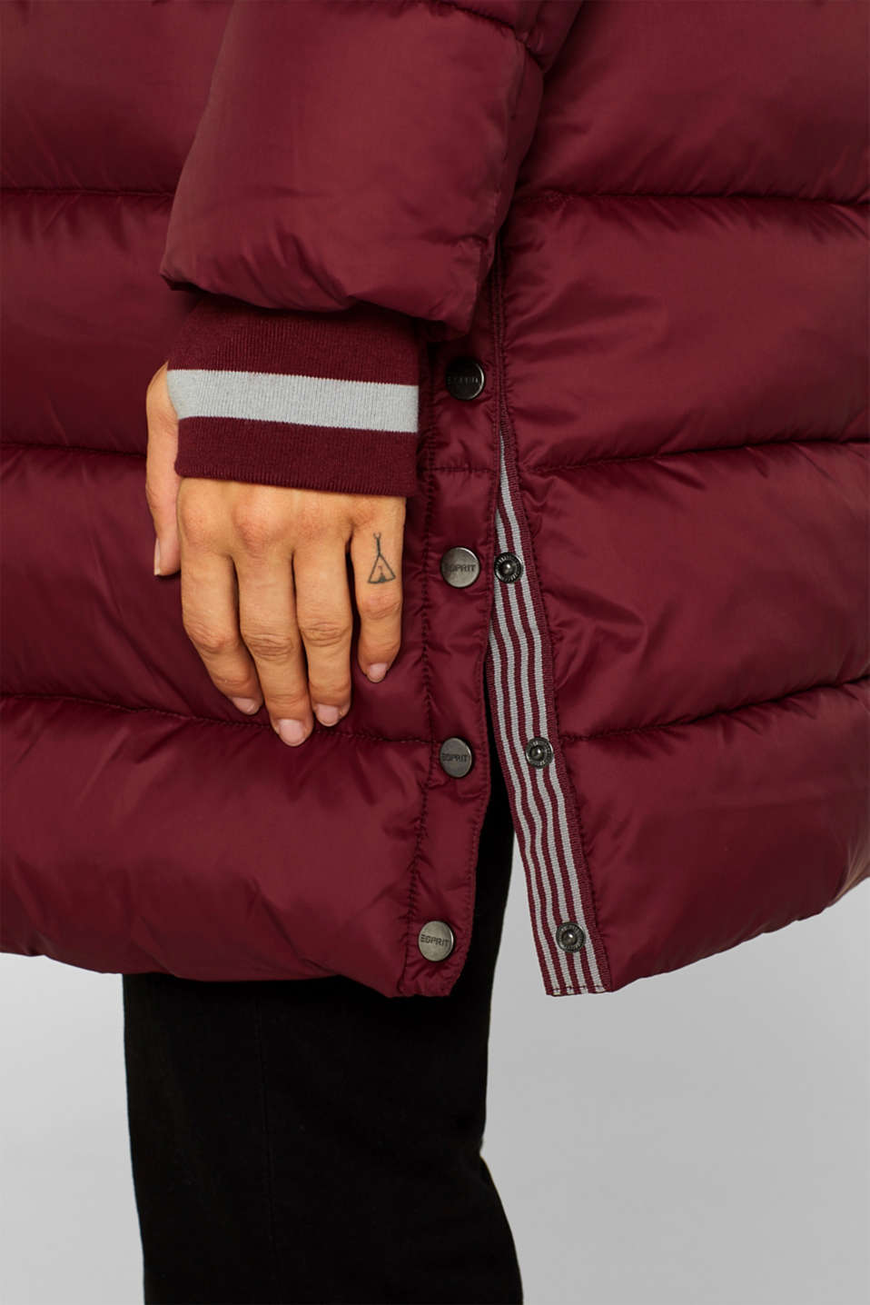 Quilted coat with 3M™ Thinsulate™ padding, BORDEAUX RED, detail image number 6