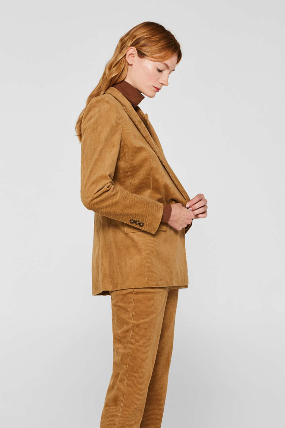 Blazers woven, CAMEL, detail image number 5