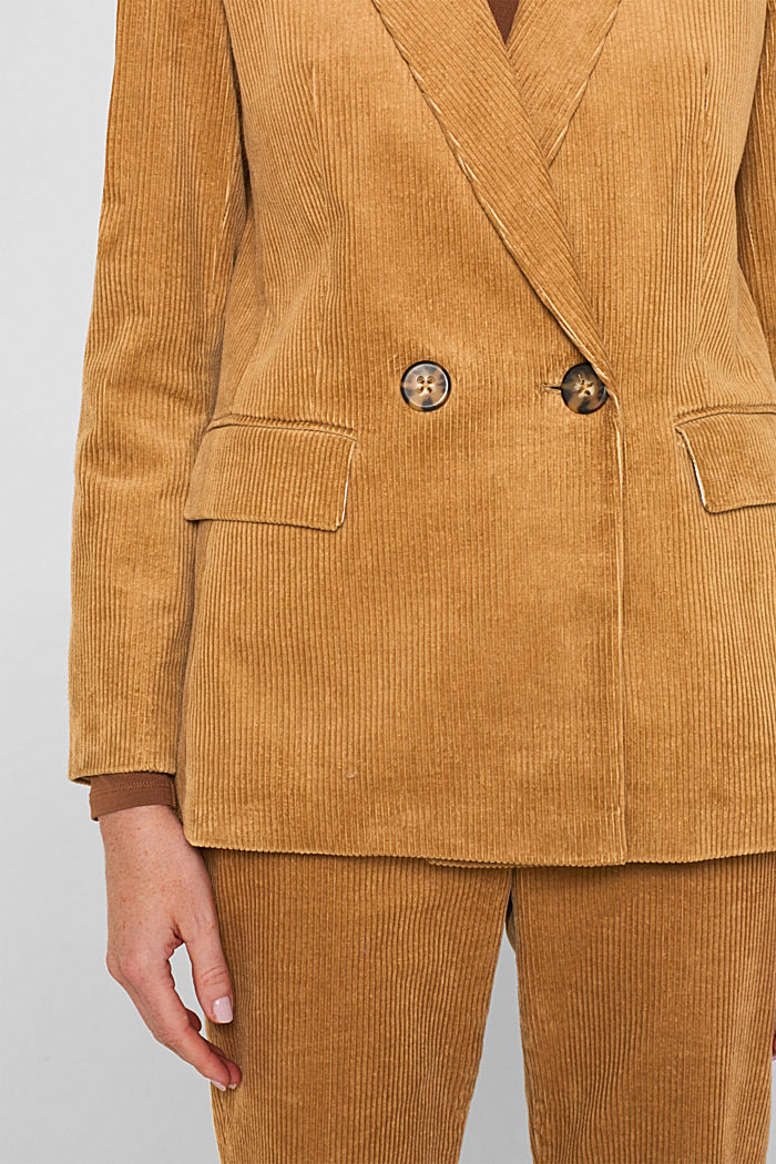 CORD mix + match double-breasted blazer, CAMEL, detail image number 2