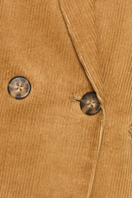 CORD mix + match double-breasted blazer, CAMEL, detail