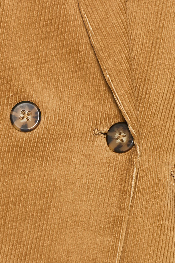 CORD mix + match double-breasted blazer, CAMEL, detail image number 4