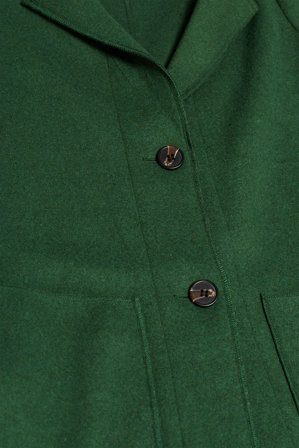 Unlined wool blend coat, BOTTLE GREEN, detail image number 4