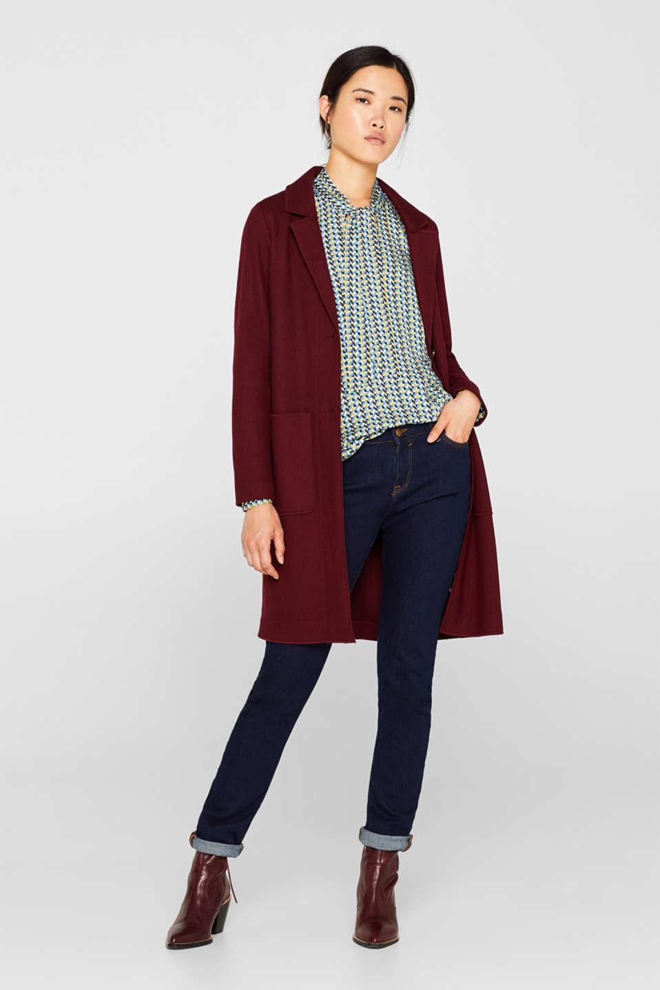 Coats woven, GARNET RED, detail image number 1