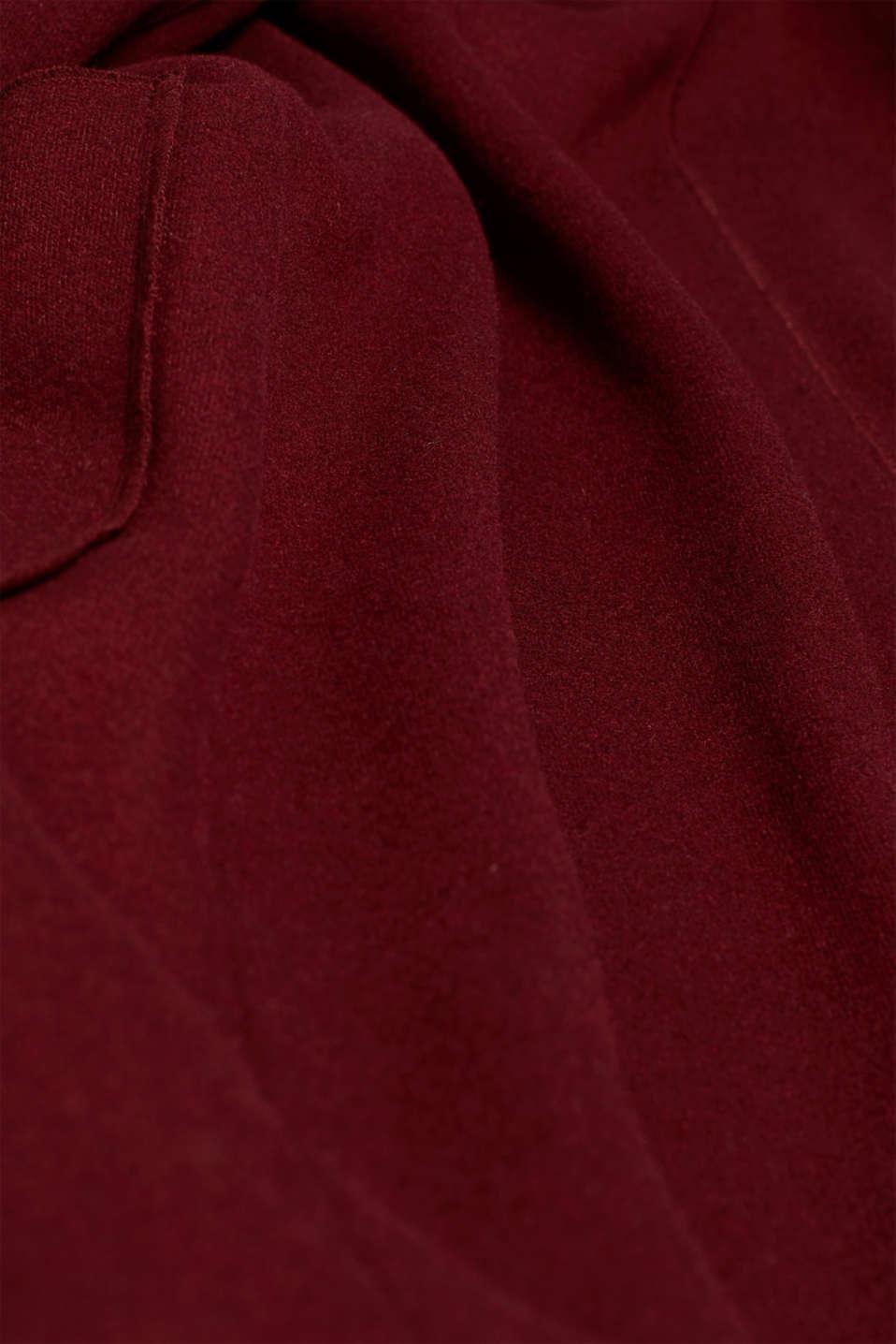 Coats woven, GARNET RED, detail image number 4