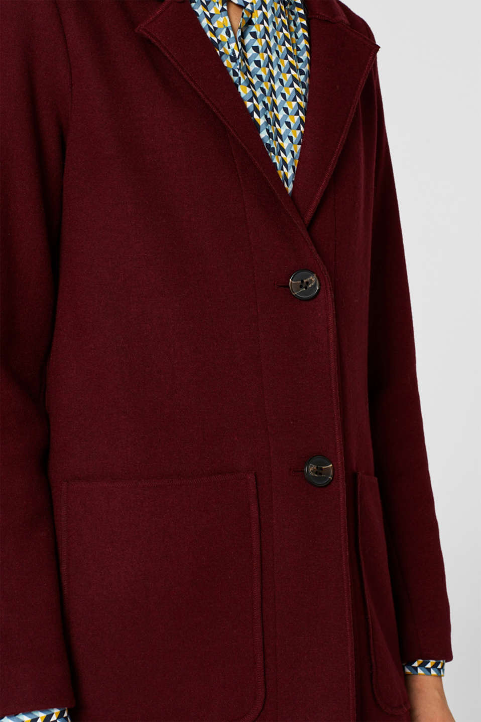 Coats woven, GARNET RED, detail image number 5