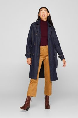 Denim coat with a sophisticated back, BLUE RINSE, detail
