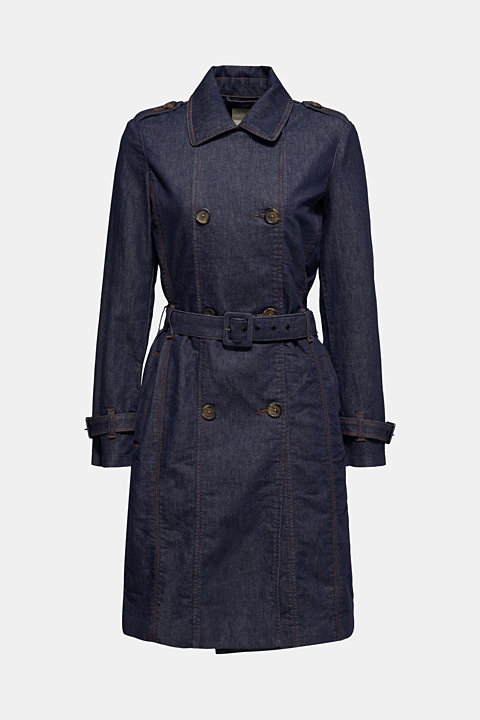 Denim coat with a sophisticated back