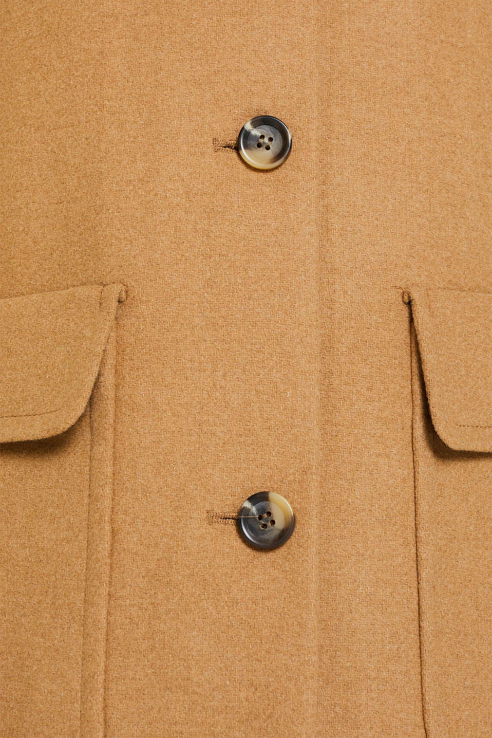 Wool blend: coat with a spade collar, CAMEL, detail image number 4