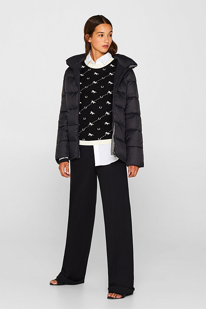 Quilted jacket with 3M® Thinsulate filling, BLACK, detail image number 8