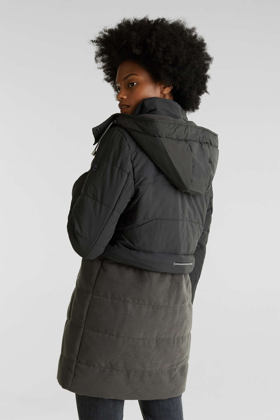 Coats woven, ANTHRACITE, detail image number 3