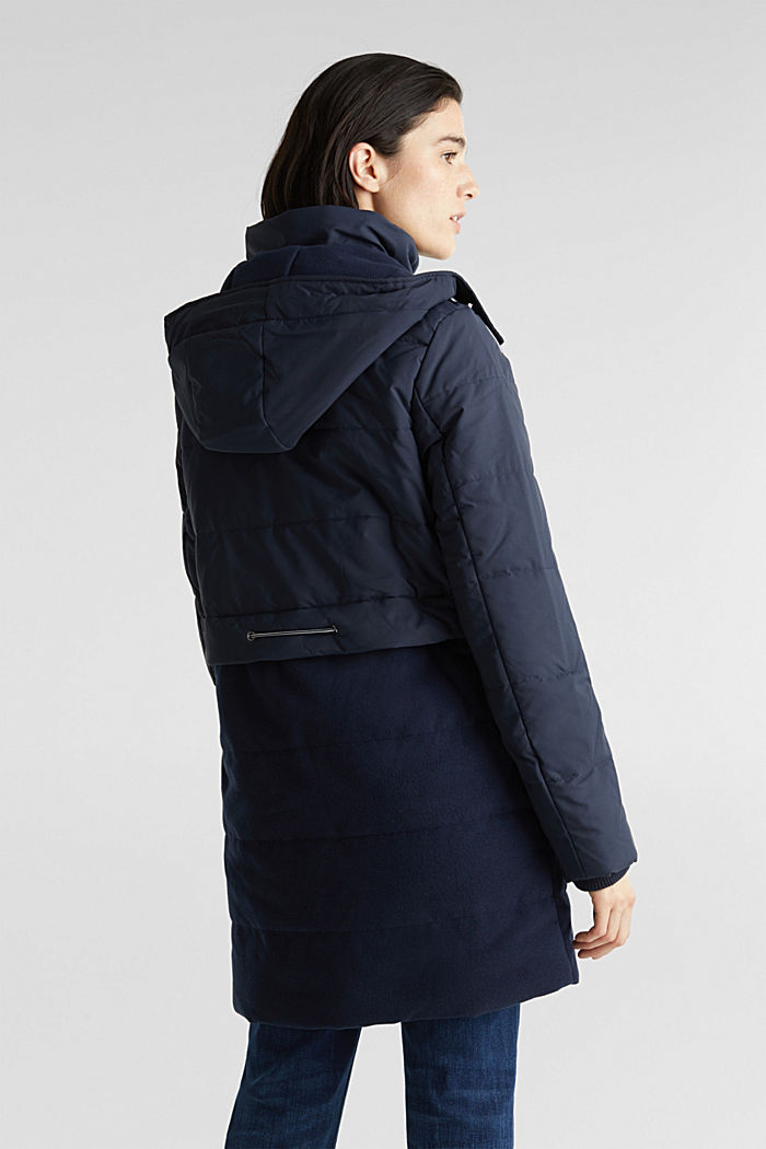 Stepp-Jacke im Material-Mix, NAVY, detail image number 3