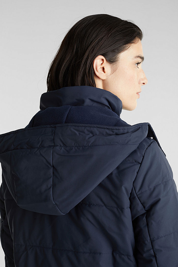 Stepp-Jacke im Material-Mix, NAVY, detail image number 2