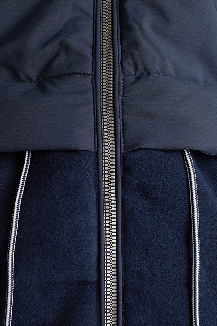 Stepp-Jacke im Material-Mix, NAVY, detail image number 4