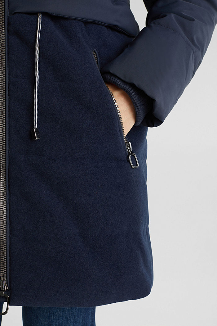 Stepp-Jacke im Material-Mix, NAVY, detail image number 5