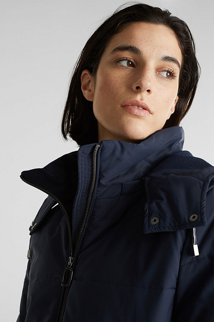 Stepp-Jacke im Material-Mix, NAVY, detail image number 6