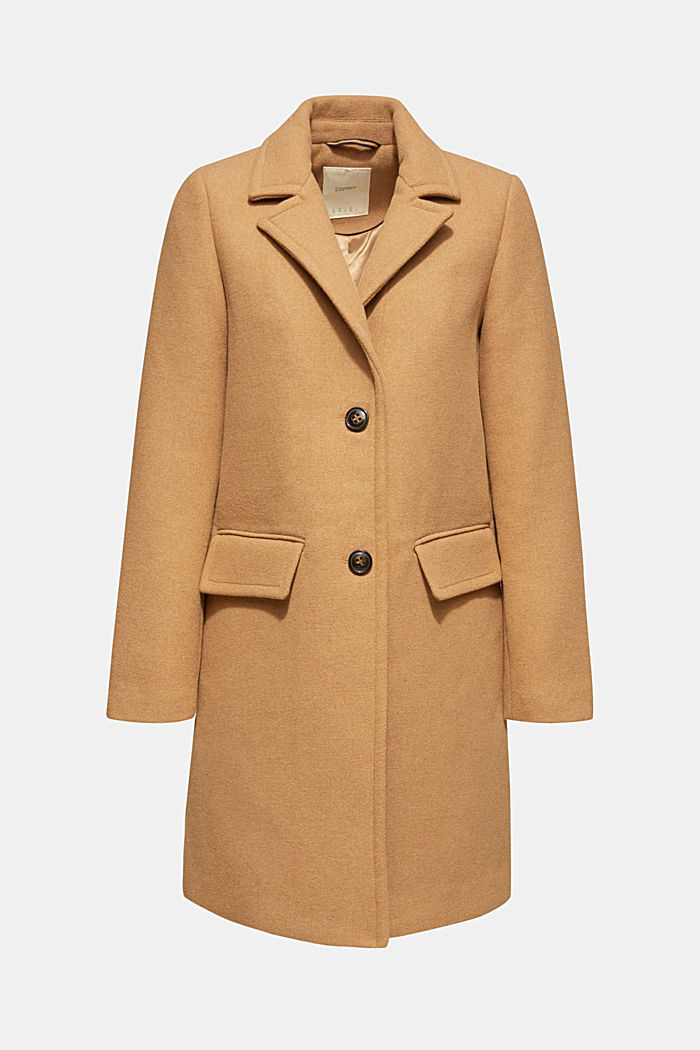 Fitted blazer coat with wool