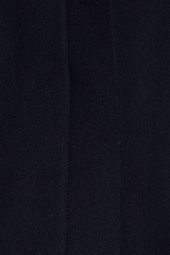 Wool blend: coat with a stand-up collar, NAVY, detail image number 4
