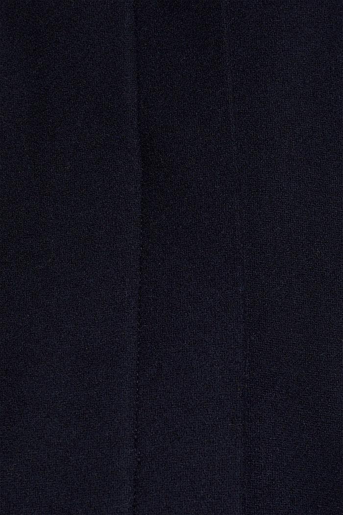 Mit Wolle: Mantel mit Stehkragen, NAVY, detail image number 4