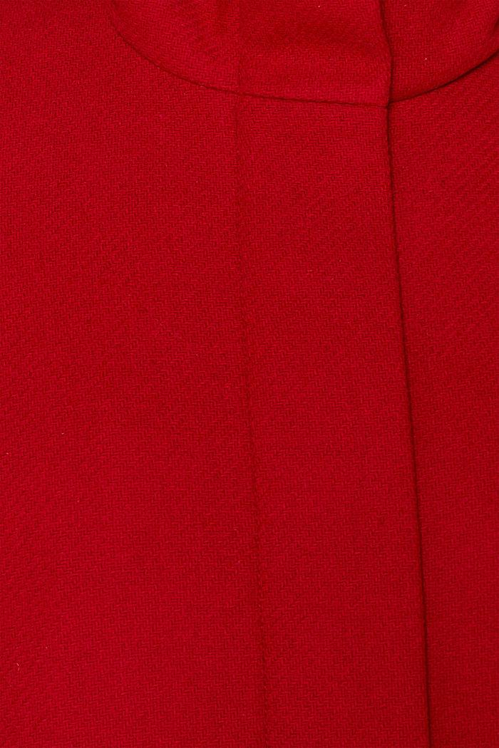 Aus Woll-Mix: Stehkragen-Mantel, DARK RED, detail image number 4