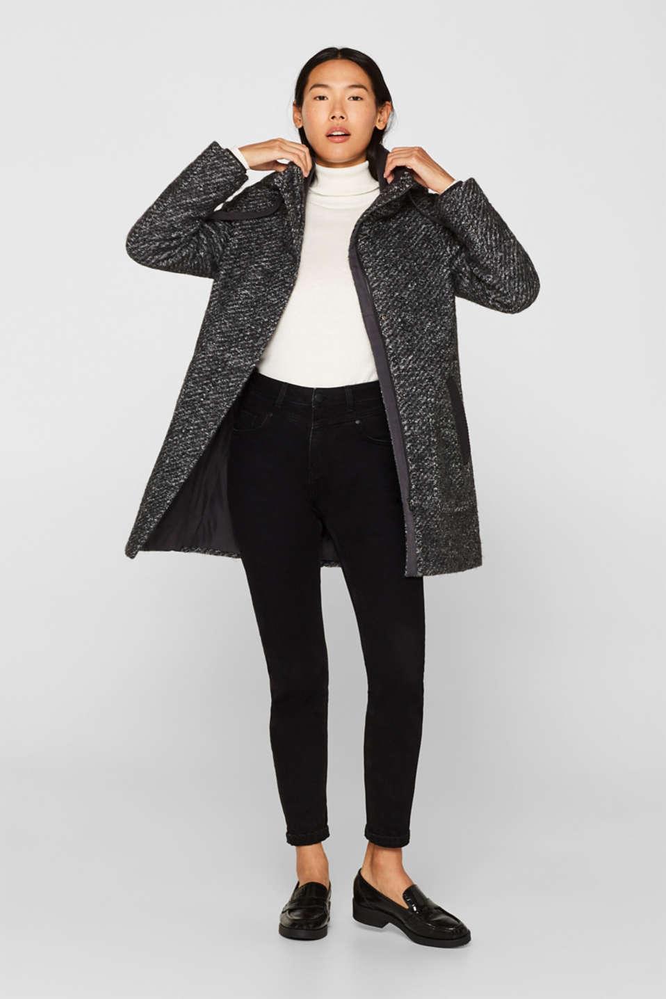 Coats woven, DARK GREY 5, detail image number 1