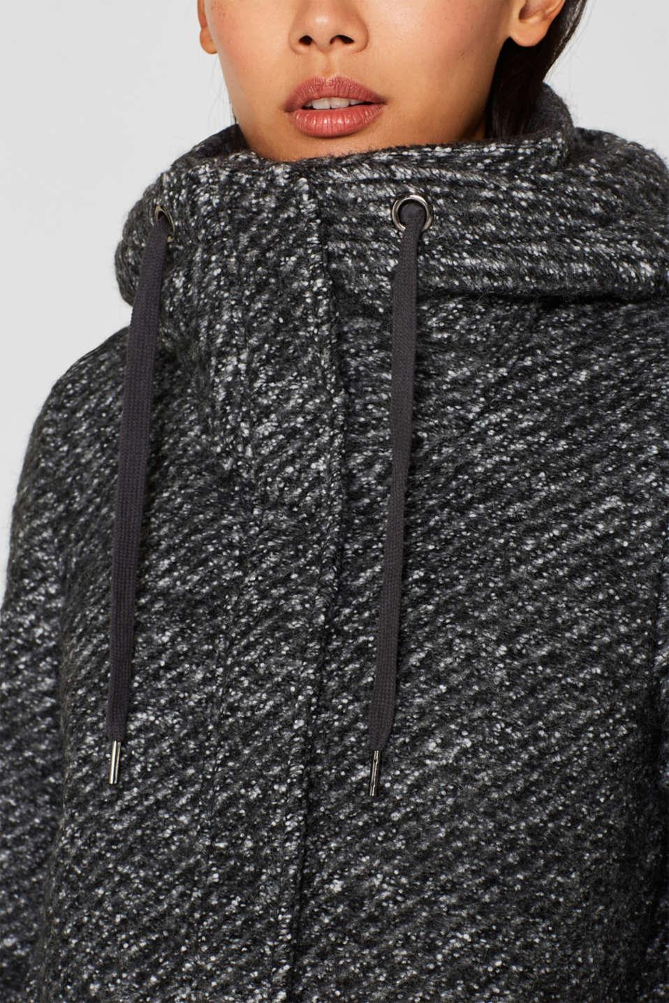 Coats woven, DARK GREY 5, detail image number 2