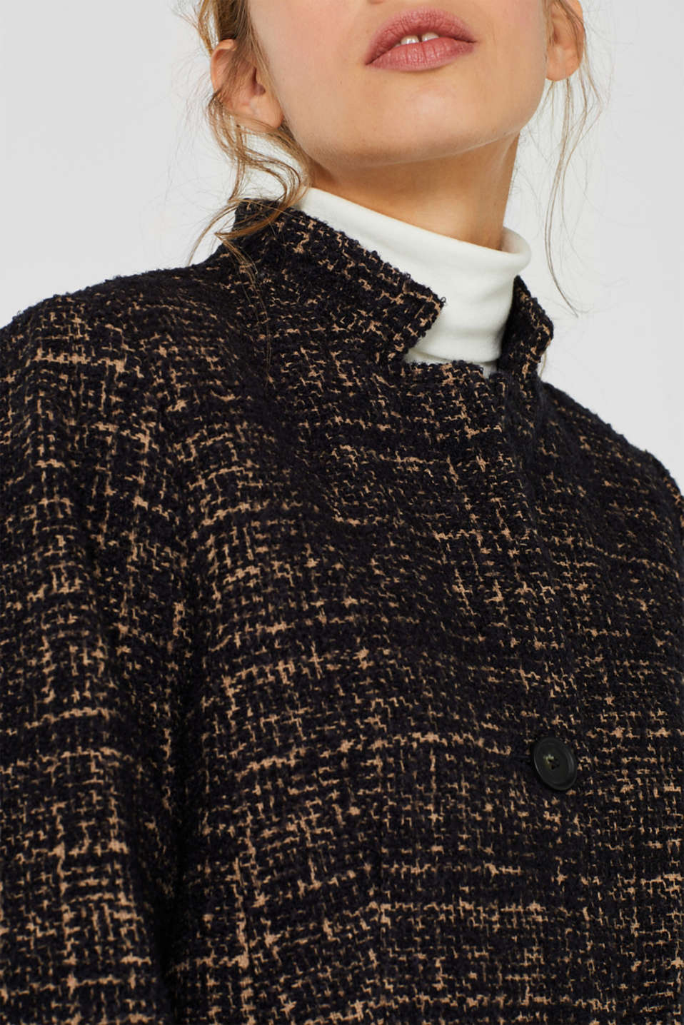 Coats woven, CAMEL, detail image number 2