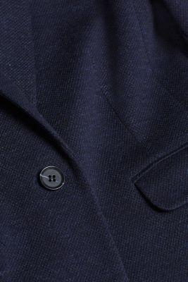 Jersey blazer with sporty stripes, NAVY, detail