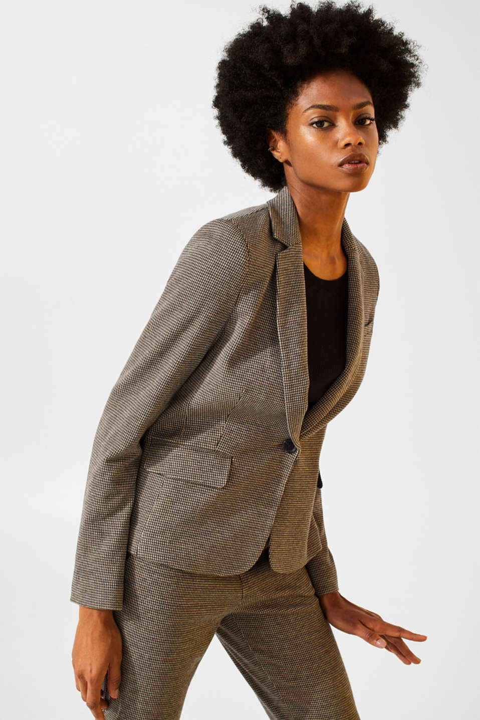 Esprit - Blazer stretch Mix + Match JERSEY SUIT