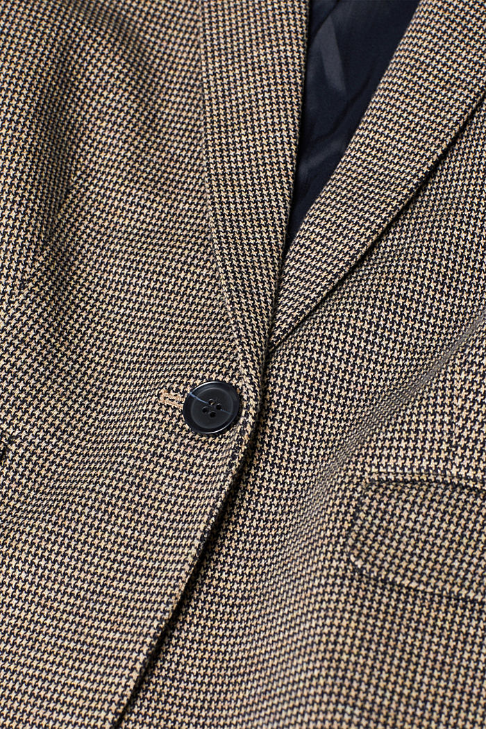 JERSEY SUIT mix + match stretch blazer, CAMEL, detail image number 4