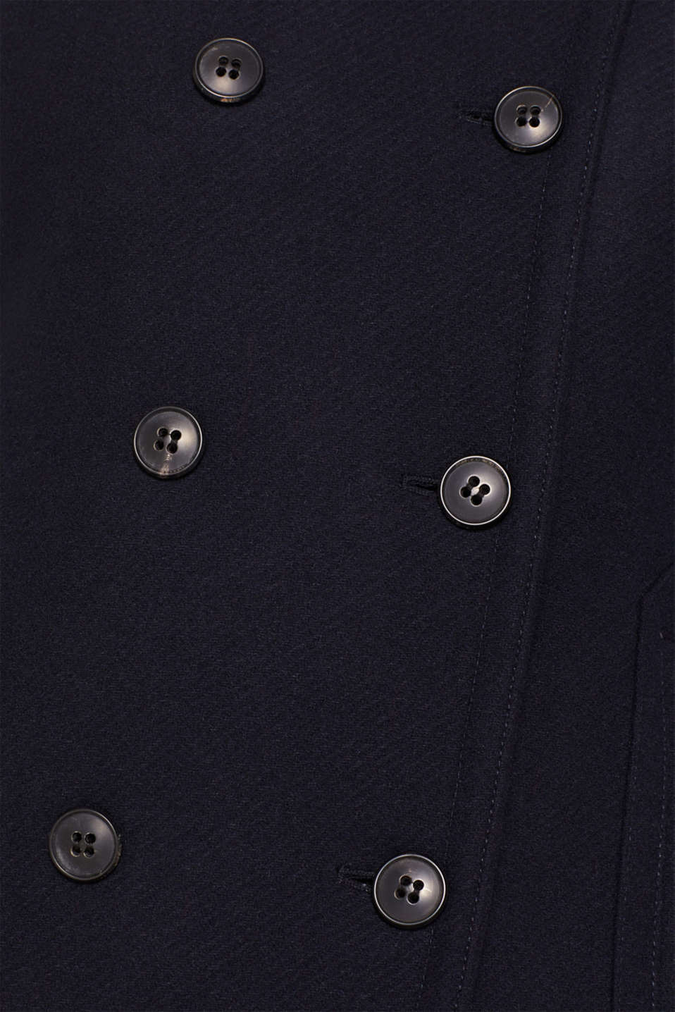 With wool: Coat with a hood, NAVY, detail image number 4