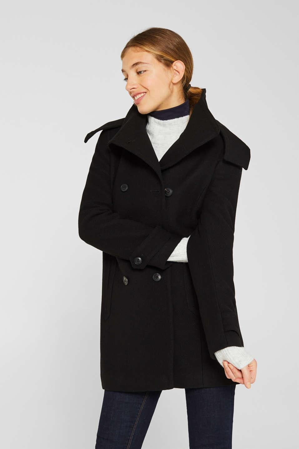 Coats woven, BLACK, detail image number 0