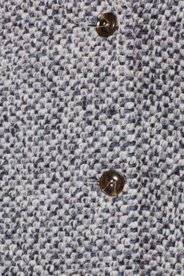 In blended wool: textured blazer coat