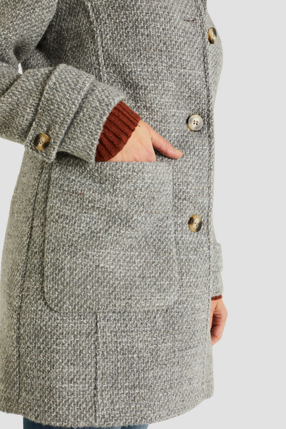 Coats woven, LIGHT GREY 5, detail image number 2