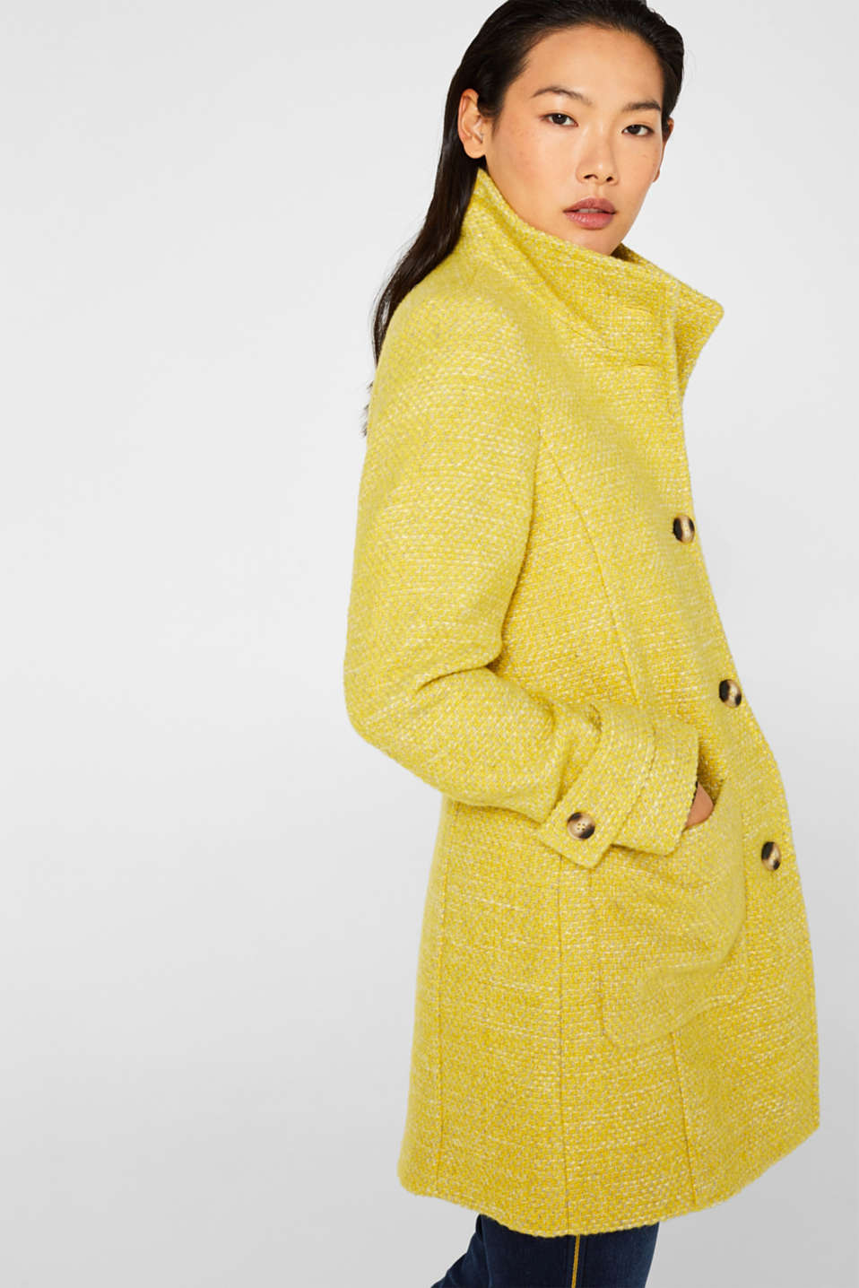 Coats woven, BRIGHT YELLOW 5, detail image number 5