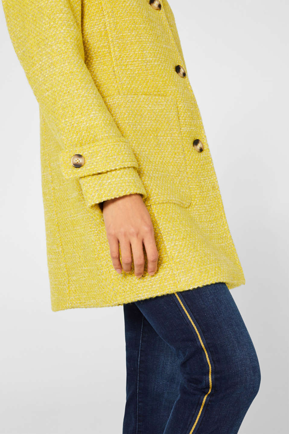 Coats woven, BRIGHT YELLOW 5, detail image number 2