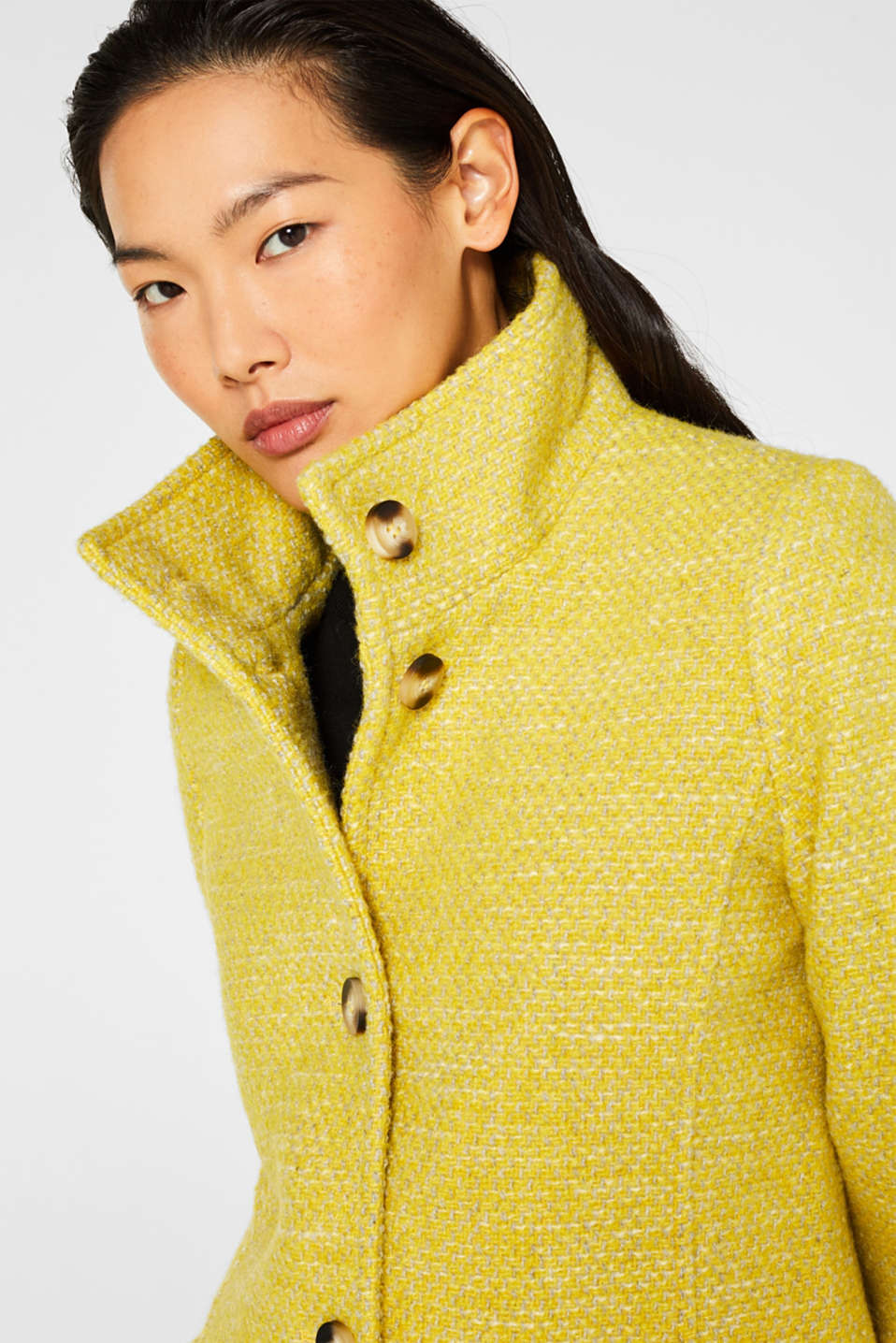 Coats woven, BRIGHT YELLOW 5, detail image number 6