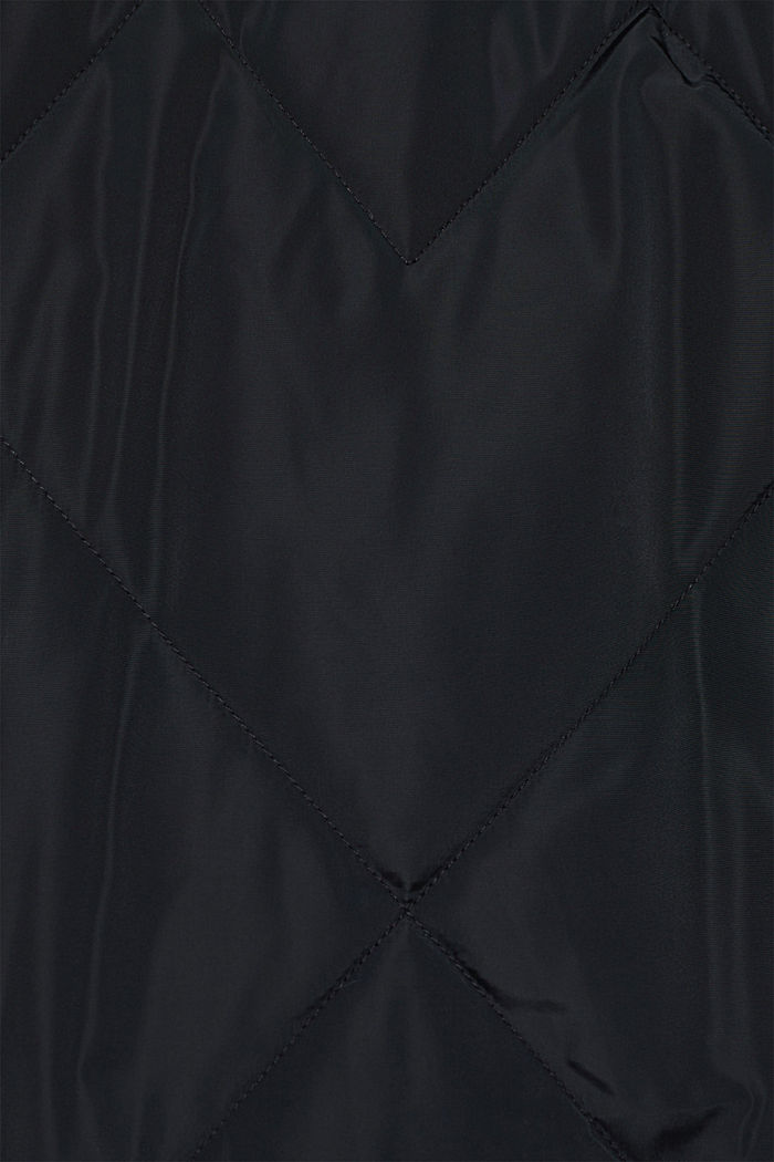 Stepp-Mantel mit abnehmbarer Kapuze, BLACK, detail image number 4