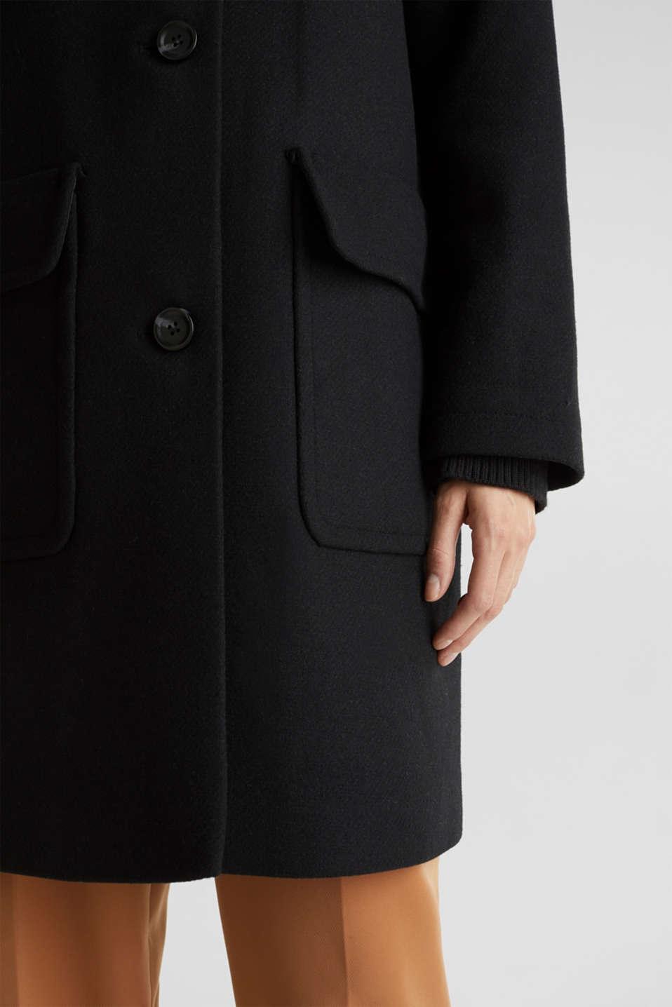 Coats woven, BLACK, detail image number 5