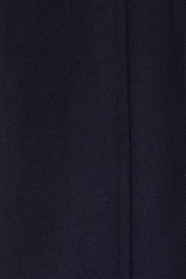 Blended wool: coat with flap pockets, NAVY, detail