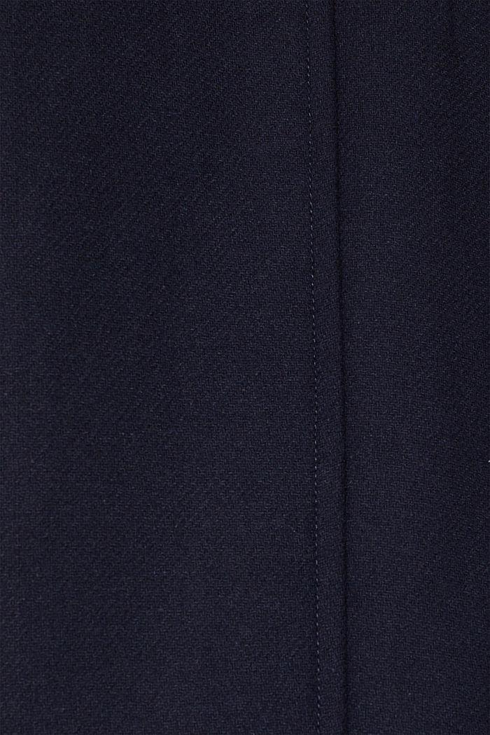 Mit Wolle: Mantel mit Klappentaschen, NAVY, detail image number 4