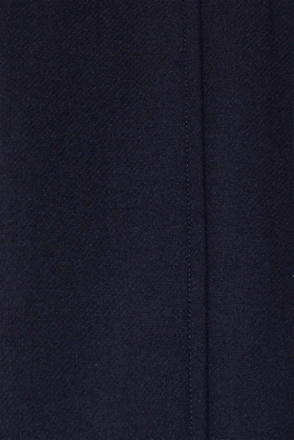 Blended wool: coat with flap pockets, NAVY, detail image number 4