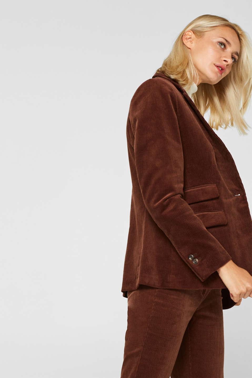 CORD mix + match blazer, DARK BROWN, detail image number 5