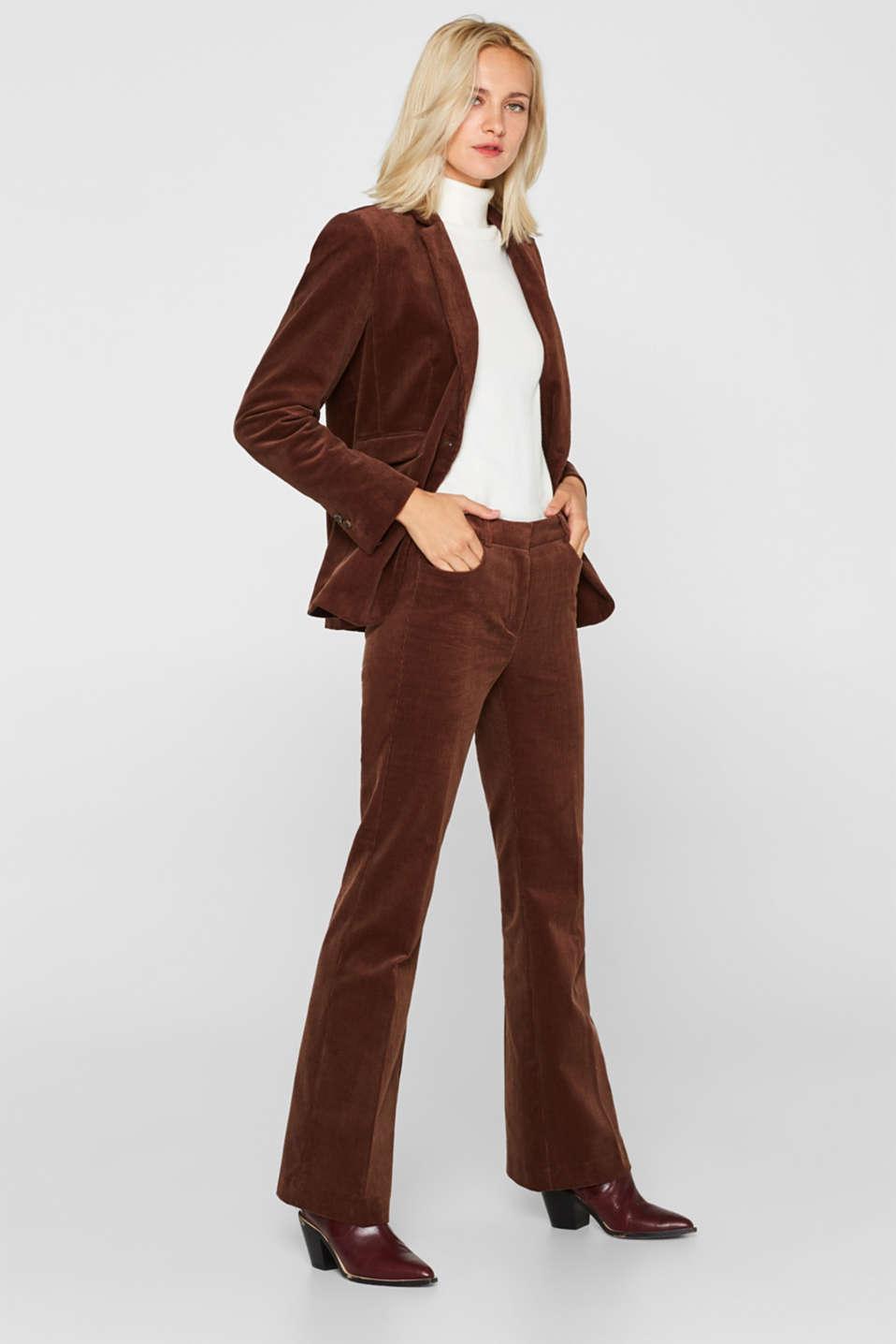 CORD mix + match blazer, DARK BROWN, detail image number 1