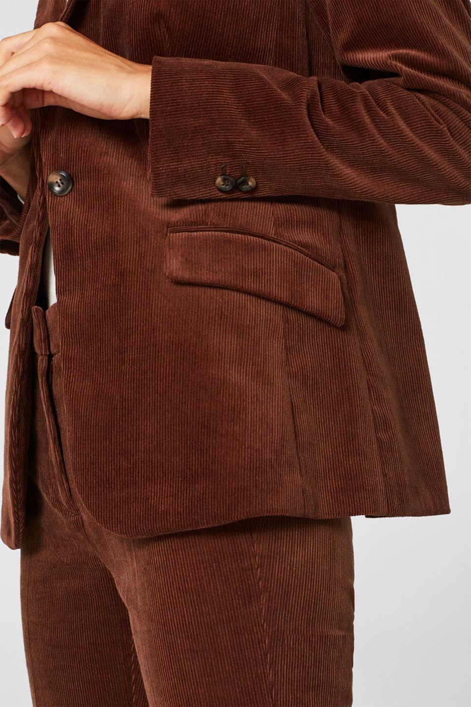 CORD mix + match blazer, DARK BROWN, detail image number 2