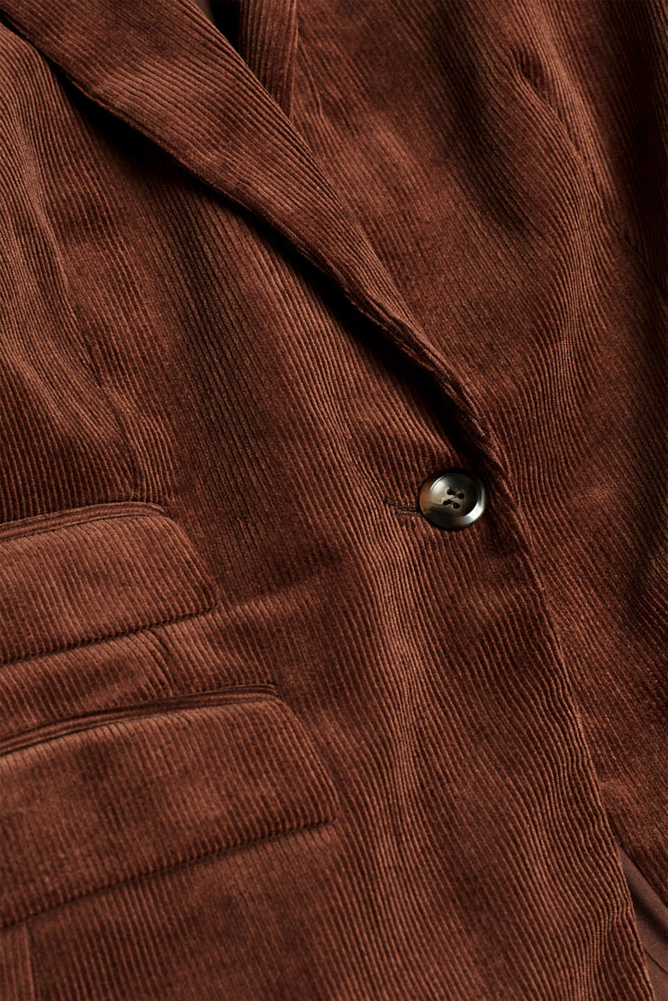 CORD mix + match blazer, DARK BROWN, detail image number 4