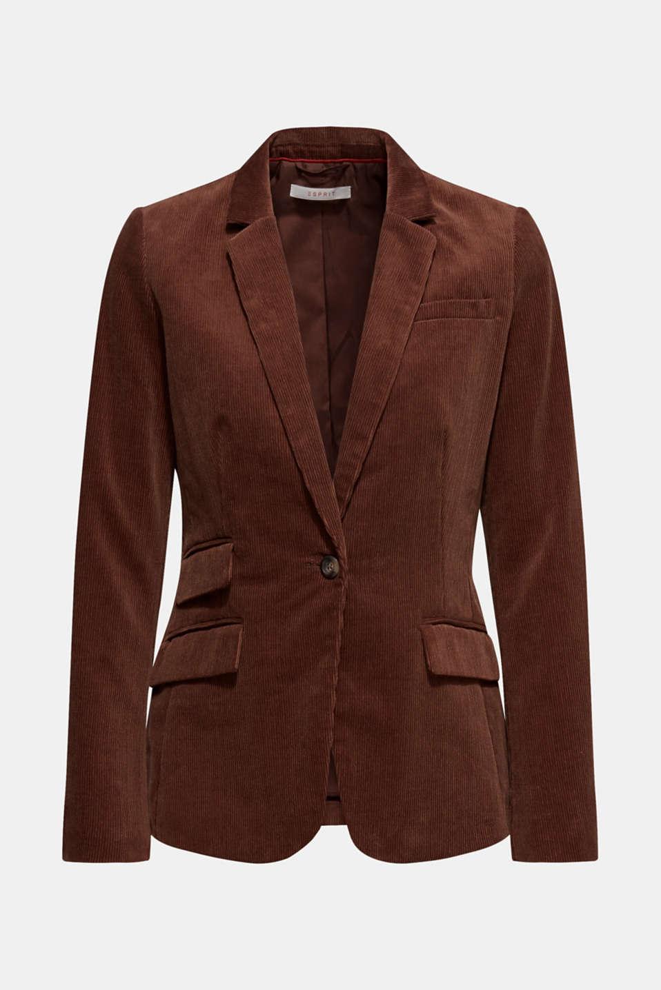 CORD mix + match blazer, DARK BROWN, detail image number 6