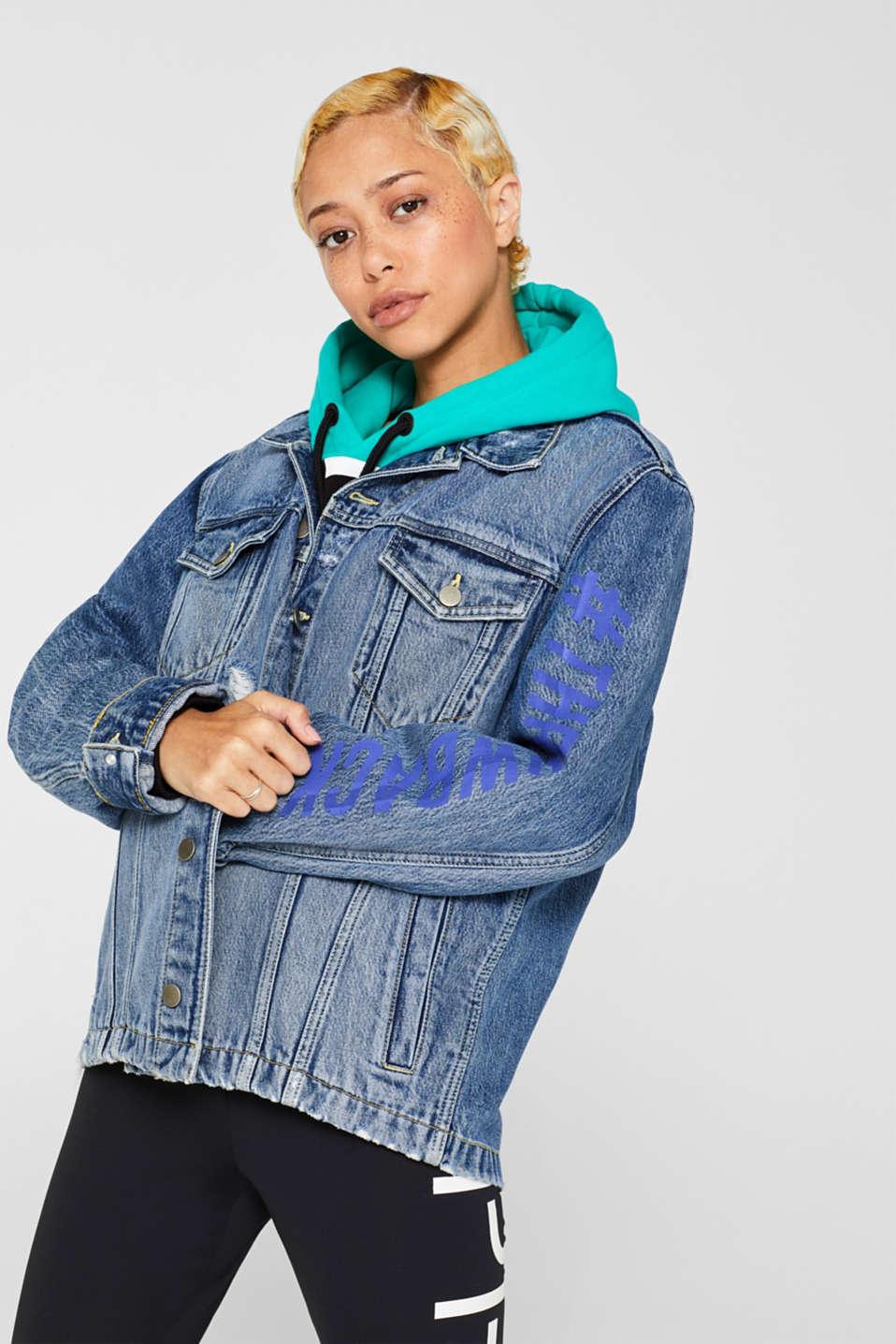 Jackets outdoor denim, BLUE MEDIUM WASH, detail image number 4