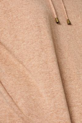 Fine knit hoodie with cashmere, CAMEL 5, detail